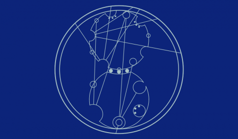 Circular Gallifreyan Mulgrew Enterprises logo